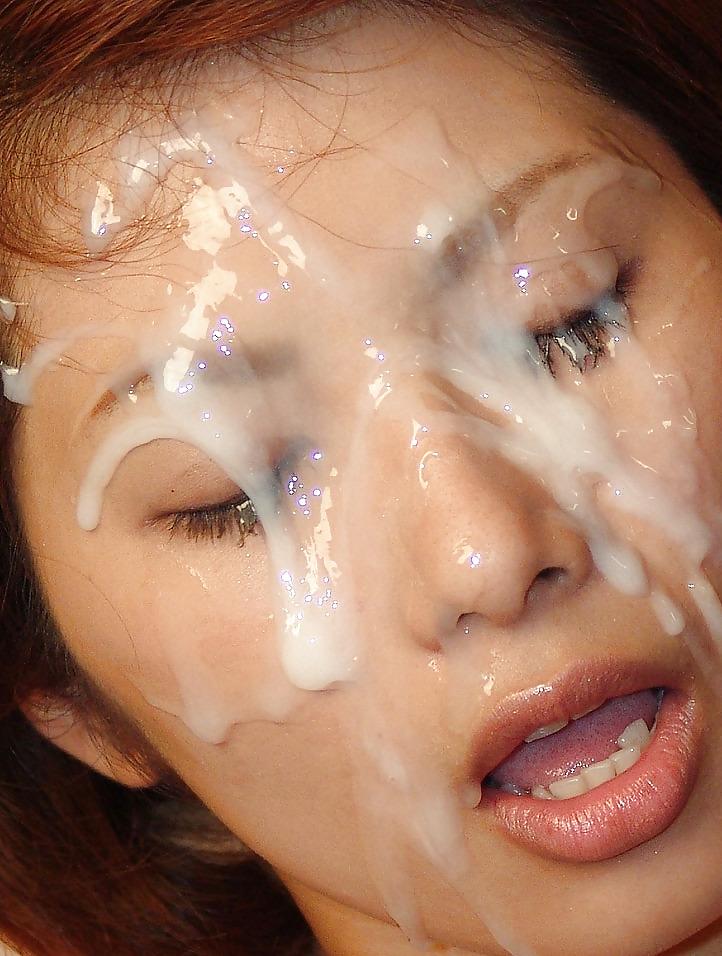 заливание спермой мордашки